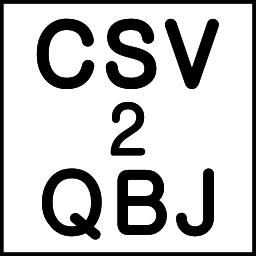 CSV2QBJ (CSV to QBJ Converter)
