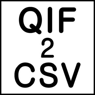 QIF2CSV (QIF to CSV/Excel/PDF Converter)