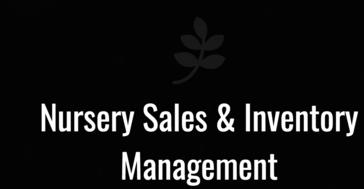 ACS Nursery Sales & Inventory Management