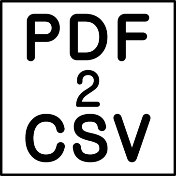 PDF2CSV (PDF to CSV/Excel Converter)