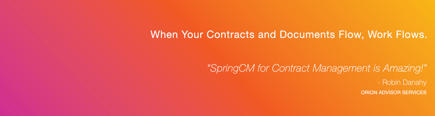 SpringCM Contract Management