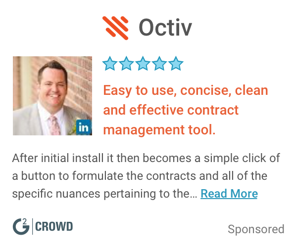 Octiv  contract management   customer review