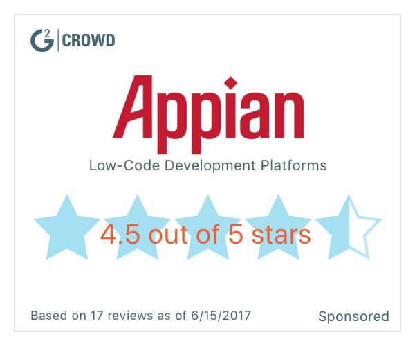 Appian low code development platforms   2x