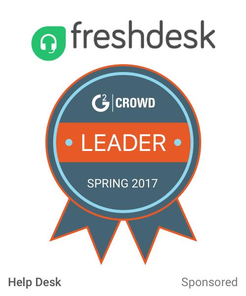 Freshdesk  help desk leader  2x