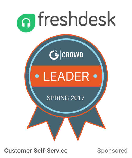Freshdesk customer self service  leader  2x